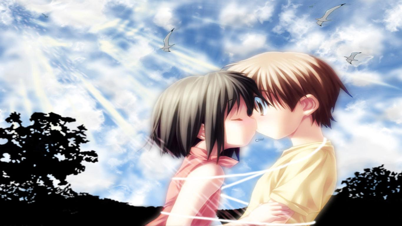 Sweet Anime Love Wallpaper Desktop : cute Love Wallpaper 804 1366x768 px ~ HDWallSource.com