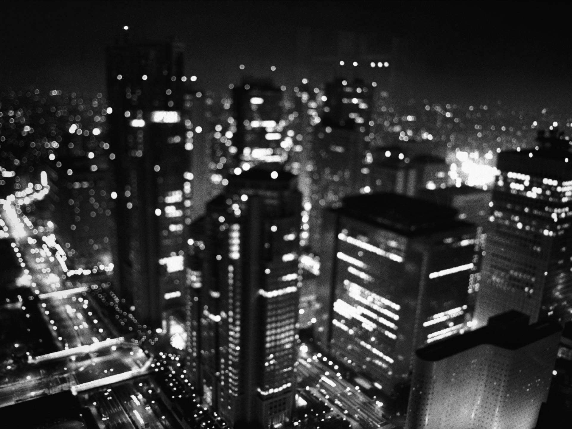 monochrome cityscape blur wallpaper 9367