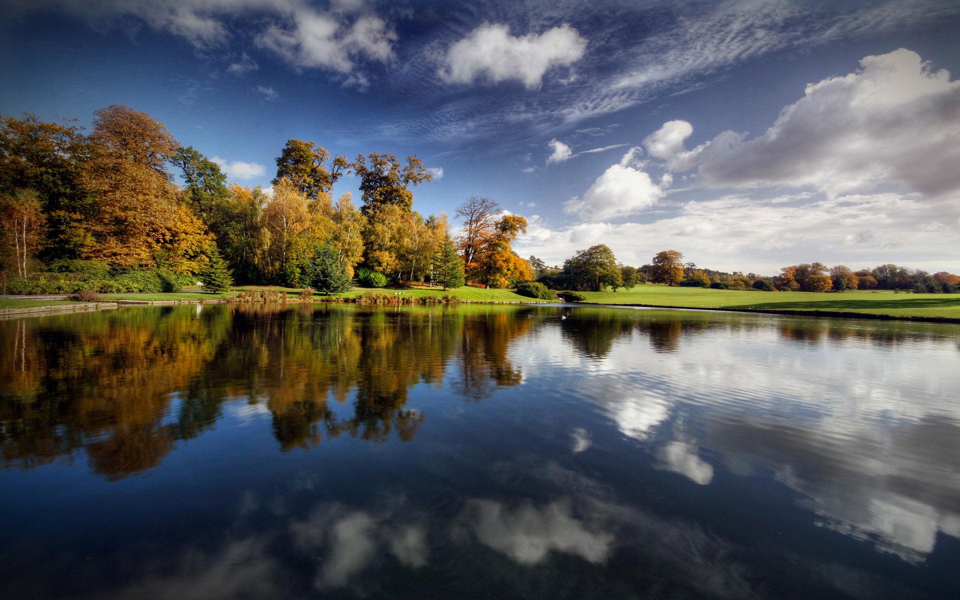 природа HDR река деревья  № 257356 бесплатно