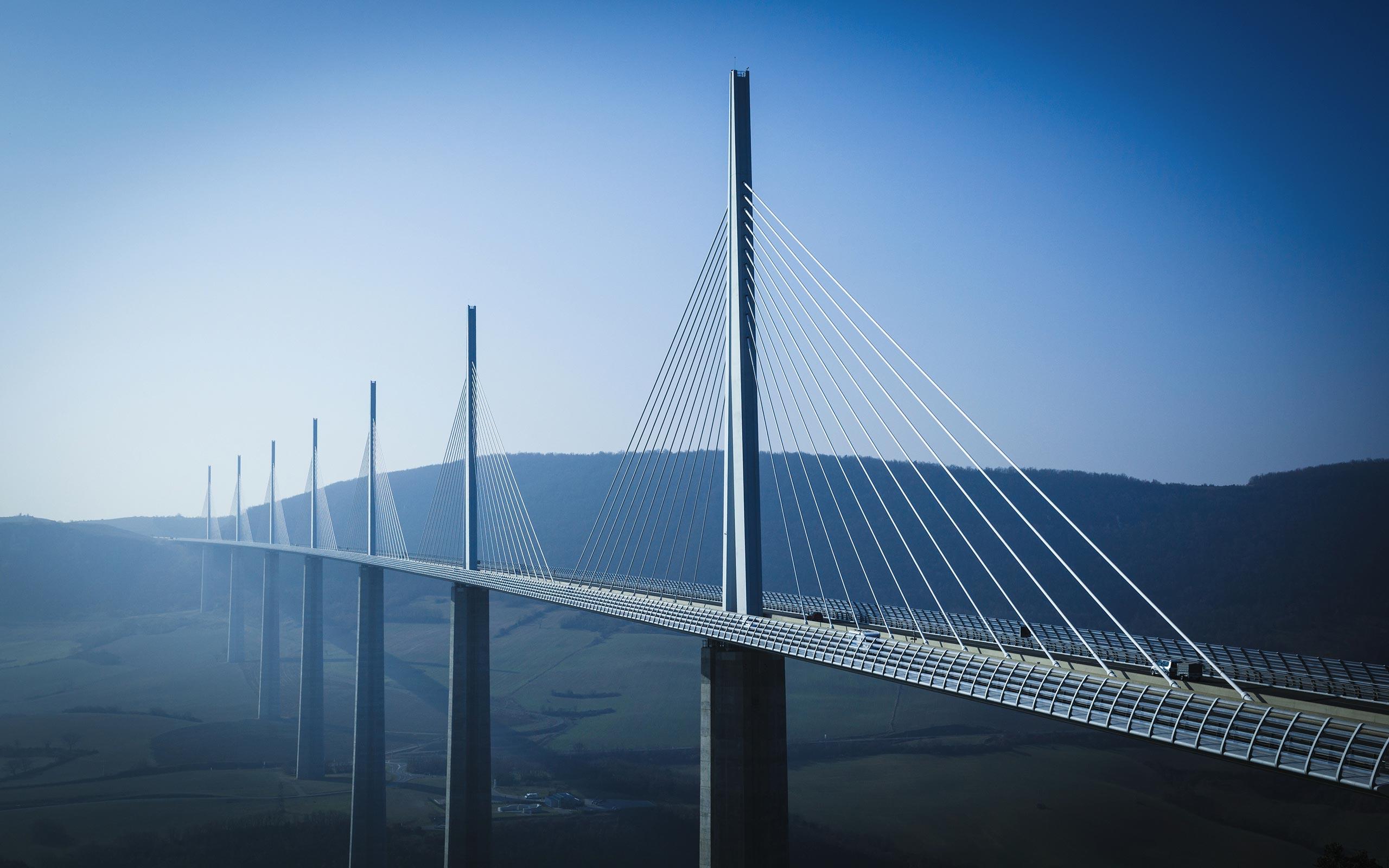 Millau Viaduct Wallpaper 36563 2560x1600 px ~ HDWallSource.com