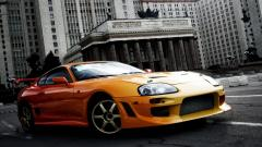 Orange Toyota Supra 23729