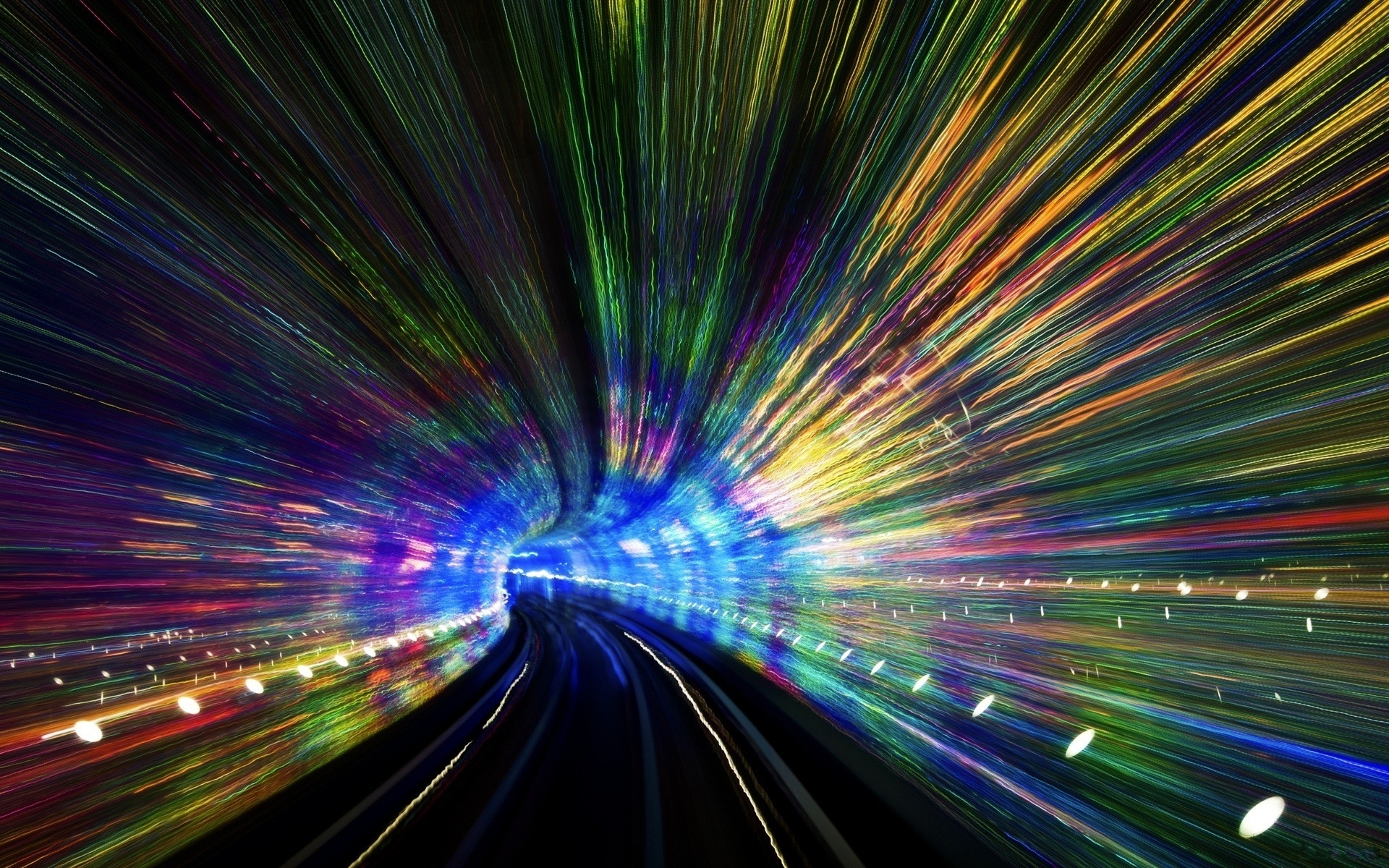 awesome road tunnel wallpaper 38508
