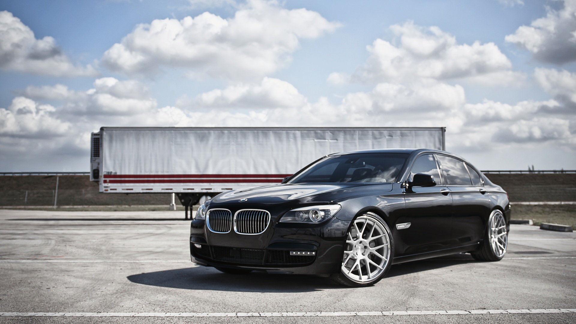 black bmw 7 series wallpaper 43424