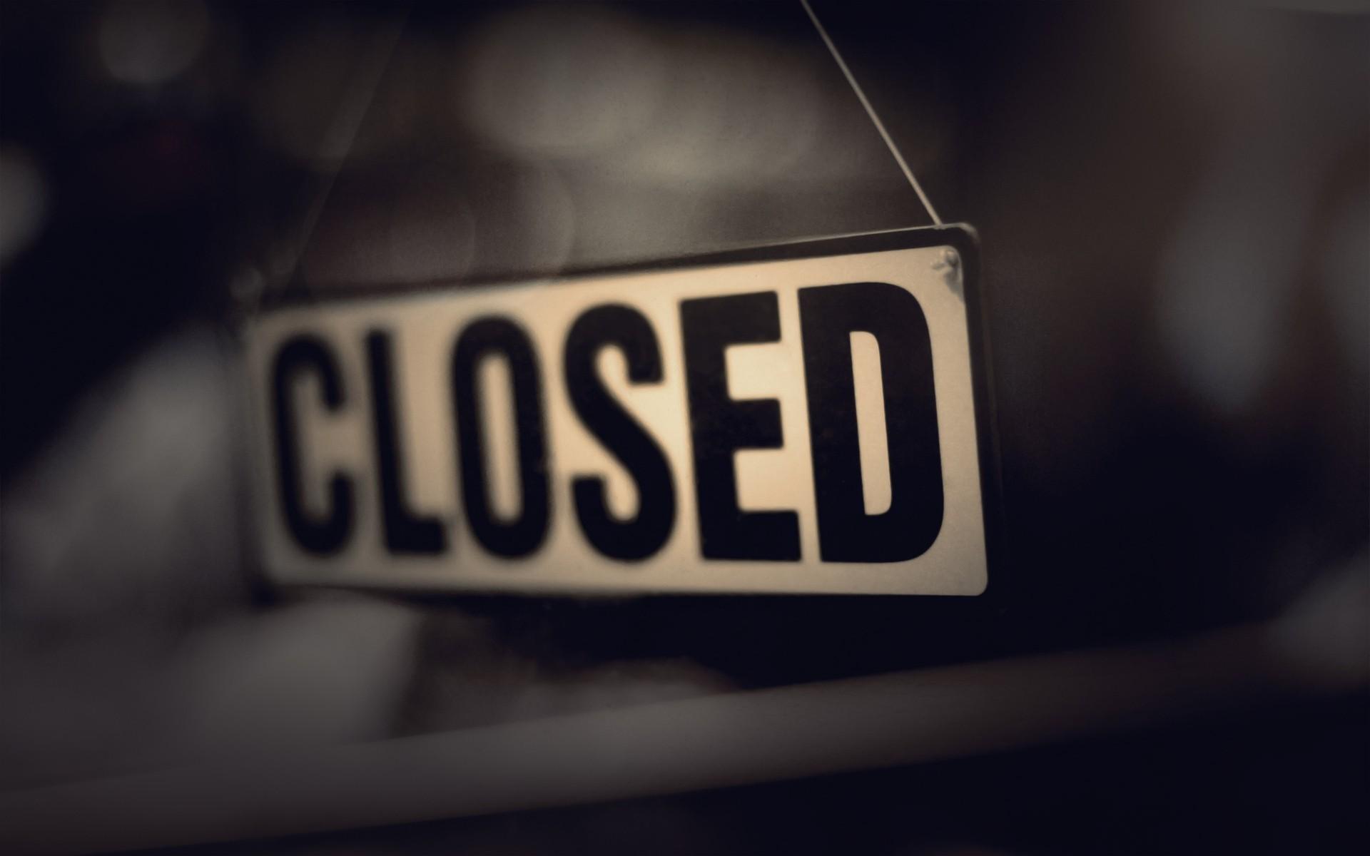closed sign macro wallpaper 44855