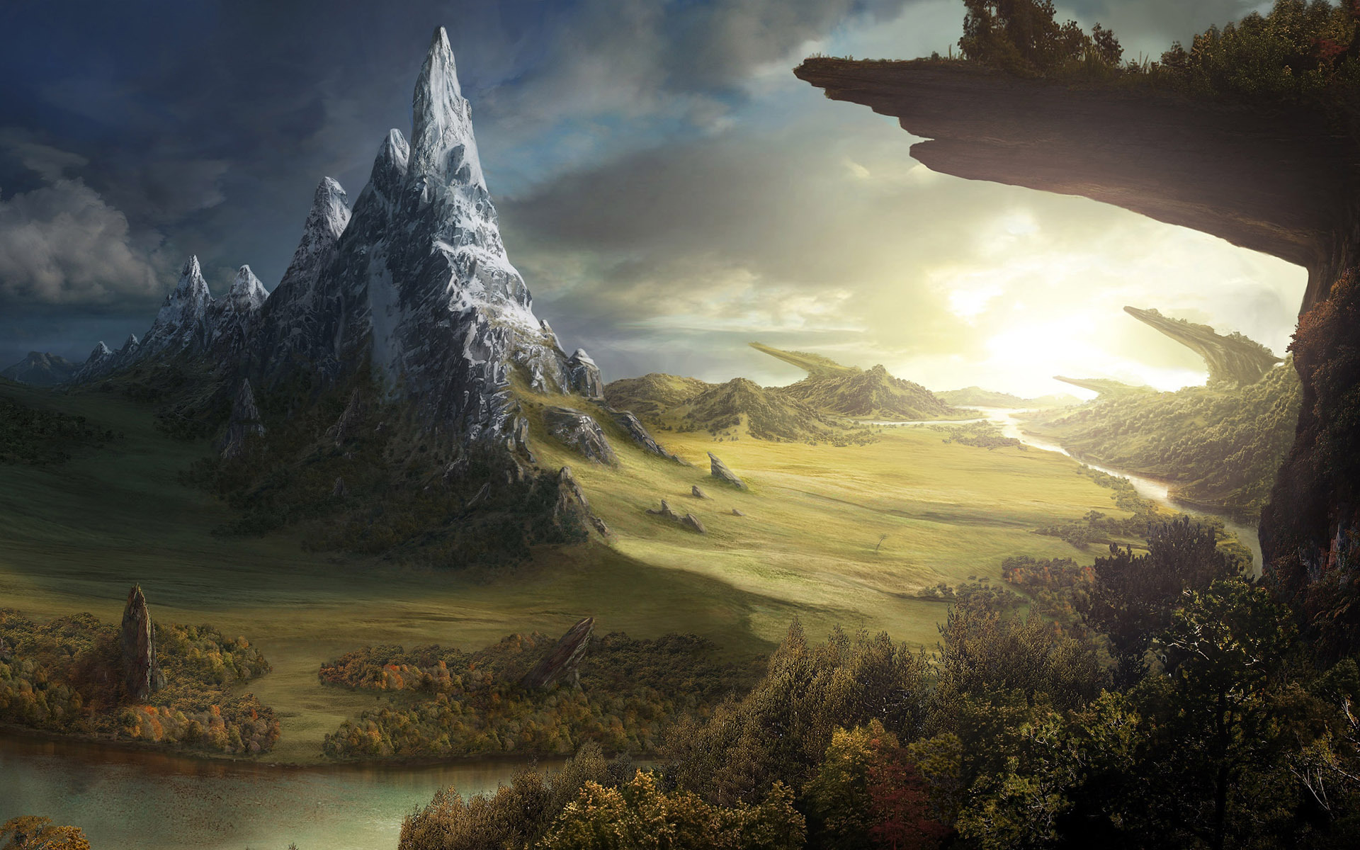 free fantasy world wallpaper 31953