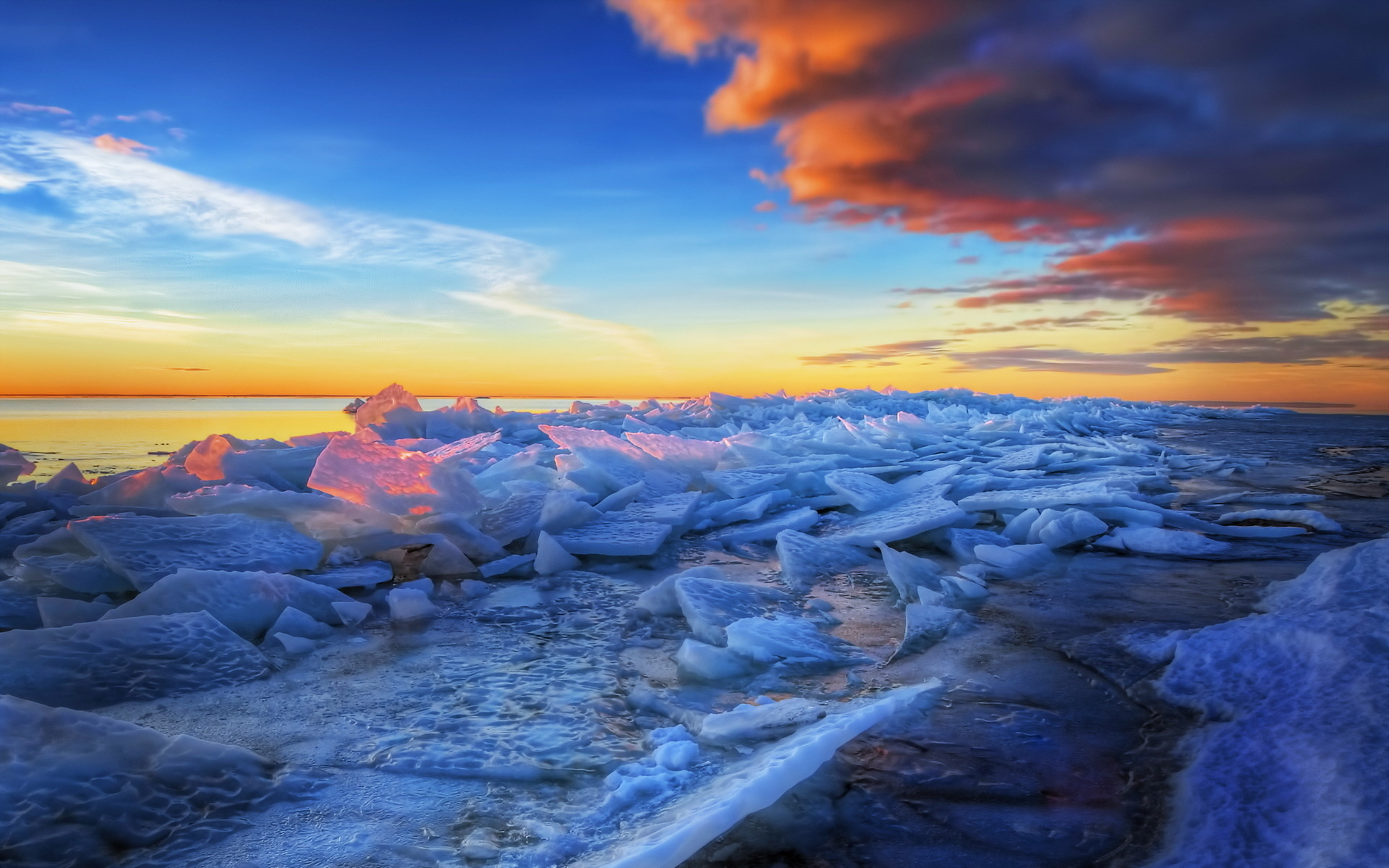hdr frozen beach wallpaper 38423