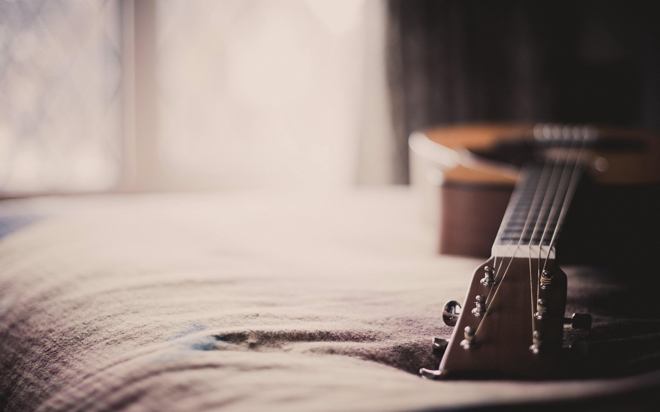 lovely bed guitar wallpaper 43750