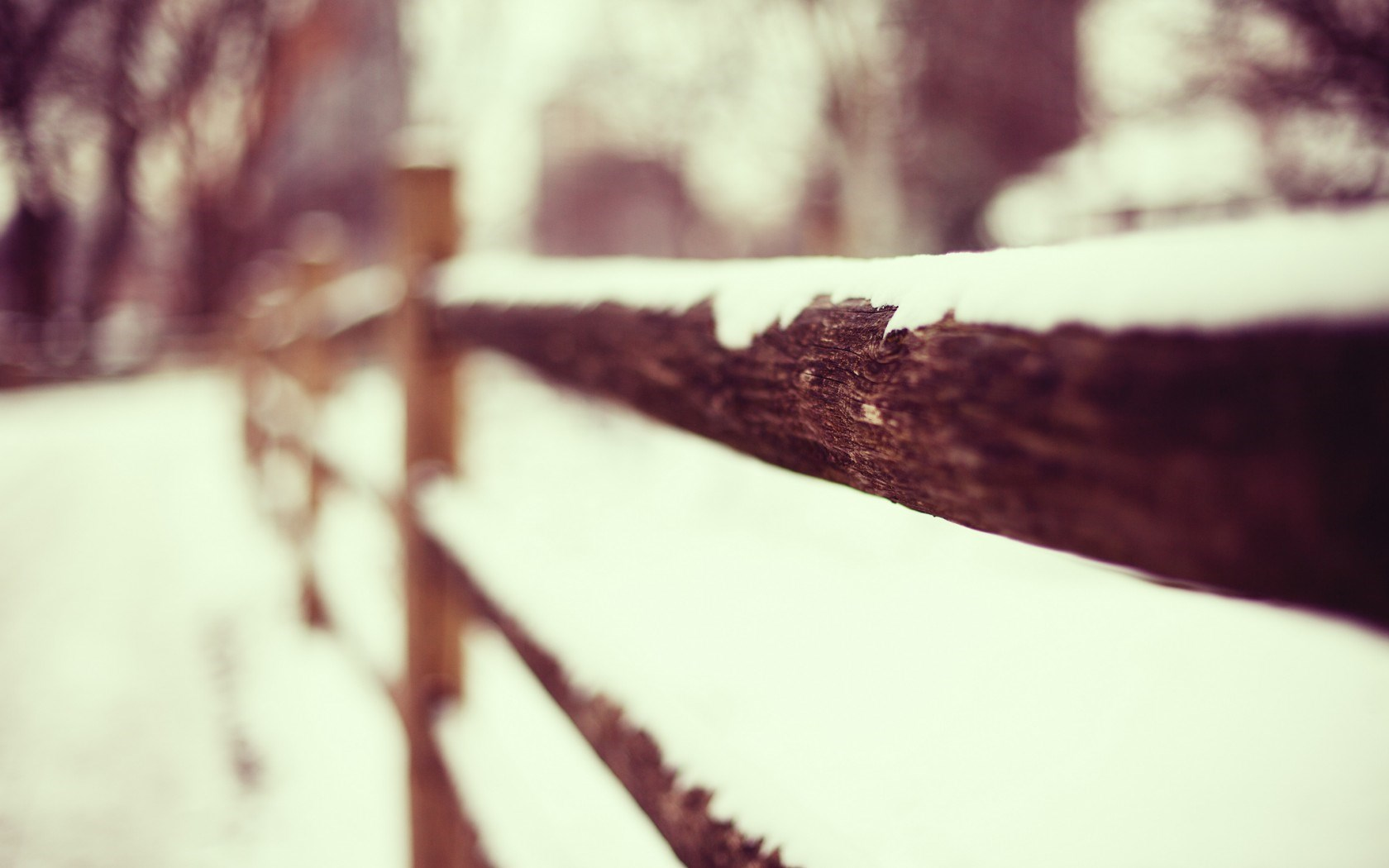nature wooden fence snow wallpaper 44972