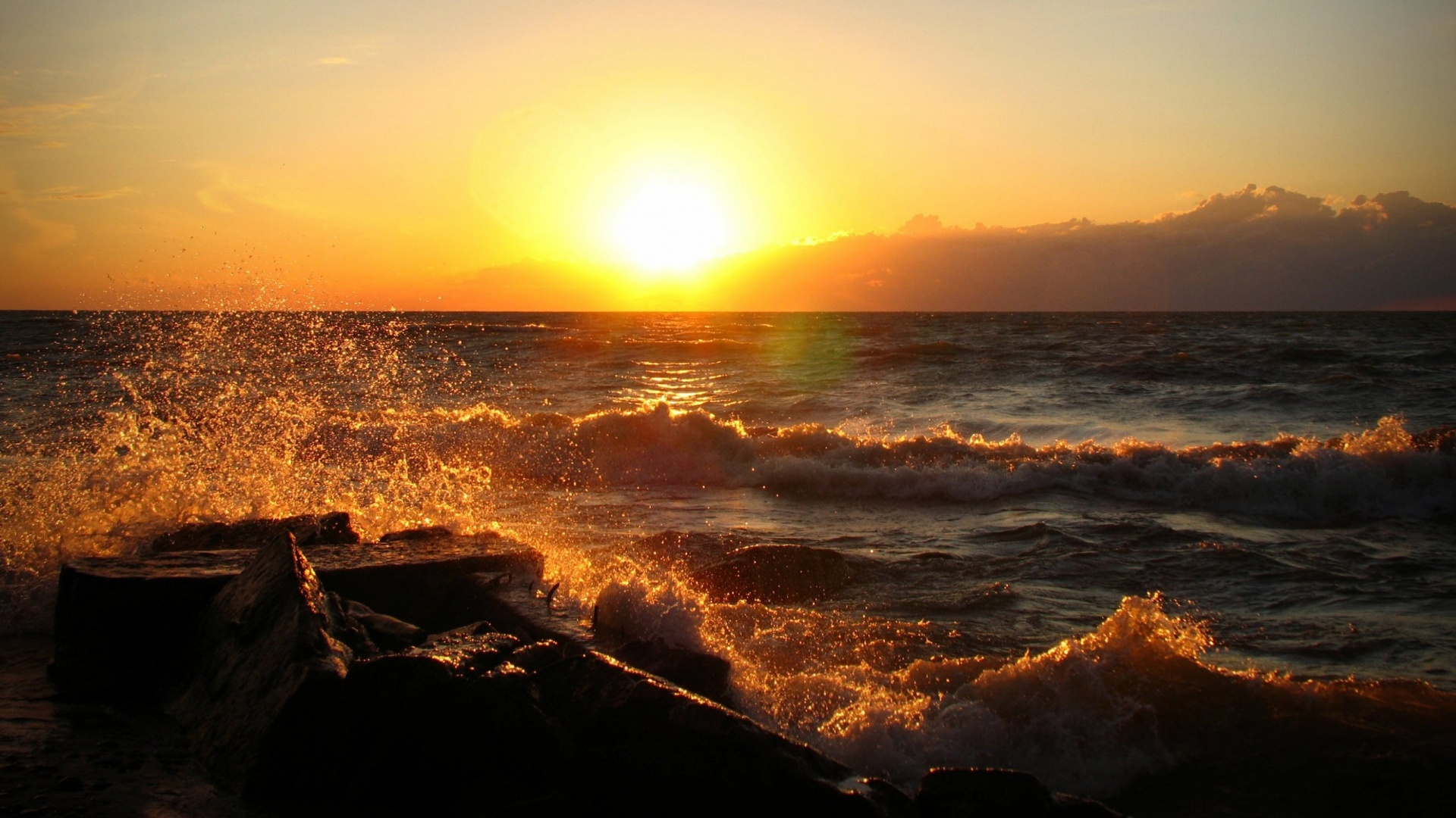 ocean sunset wallpaper 35989