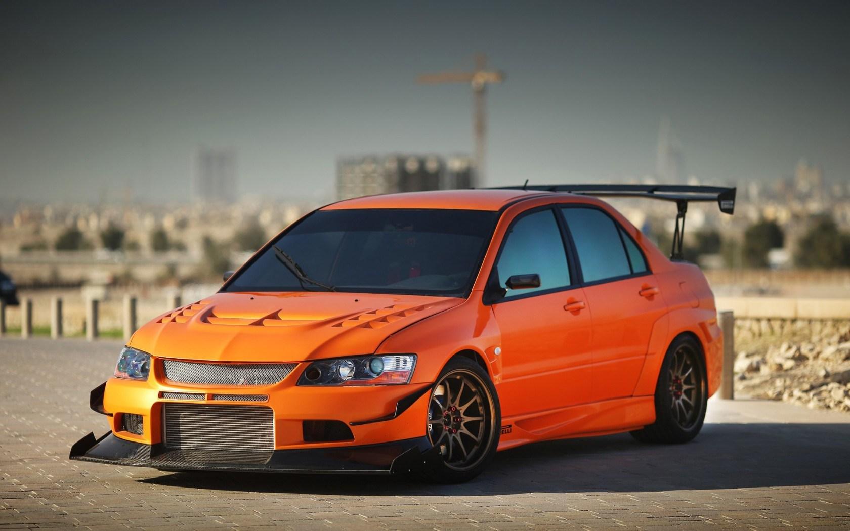orange mitsubishi lancer wallpaper 43221
