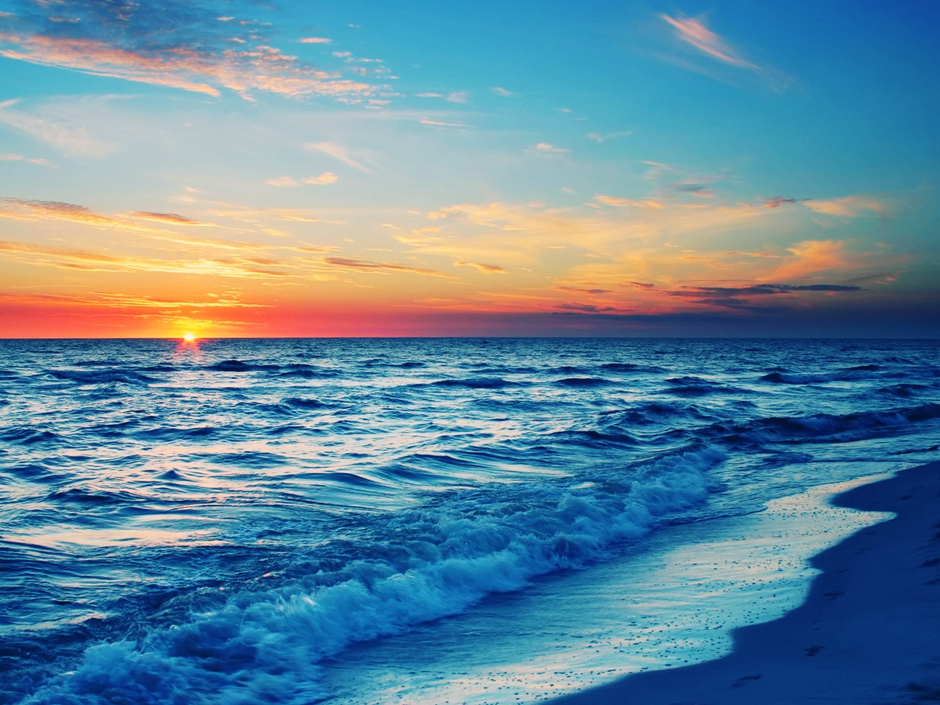 Stunning Ocean Sunset Wallpaper 35977 1920x1440 Px