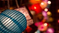 Asian Paper Lantern Wallpaper 43735