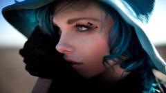 Blue Hair 34902