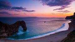 Free Ocean Sunset Wallpaper 35987