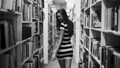 Girl In Library Wallpaper 44311