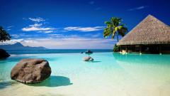 Gorgeous Beach Bungalow Wallpaper 44455