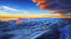 HDR Frozen Beach Wallpaper 38423