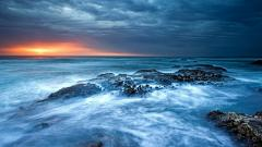 Ocean Sunset Background 35980