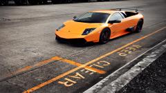 Orange Lamborghini Murcielago Wallpaper 44898