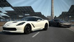 White Corvette Wallpaper 38319