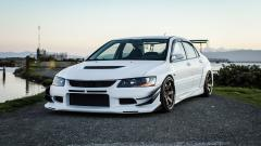 White Mitsubishi Lancer Wallpaper 43216