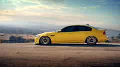 Yellow BMW m3 Sedan Wallpaper 44885
