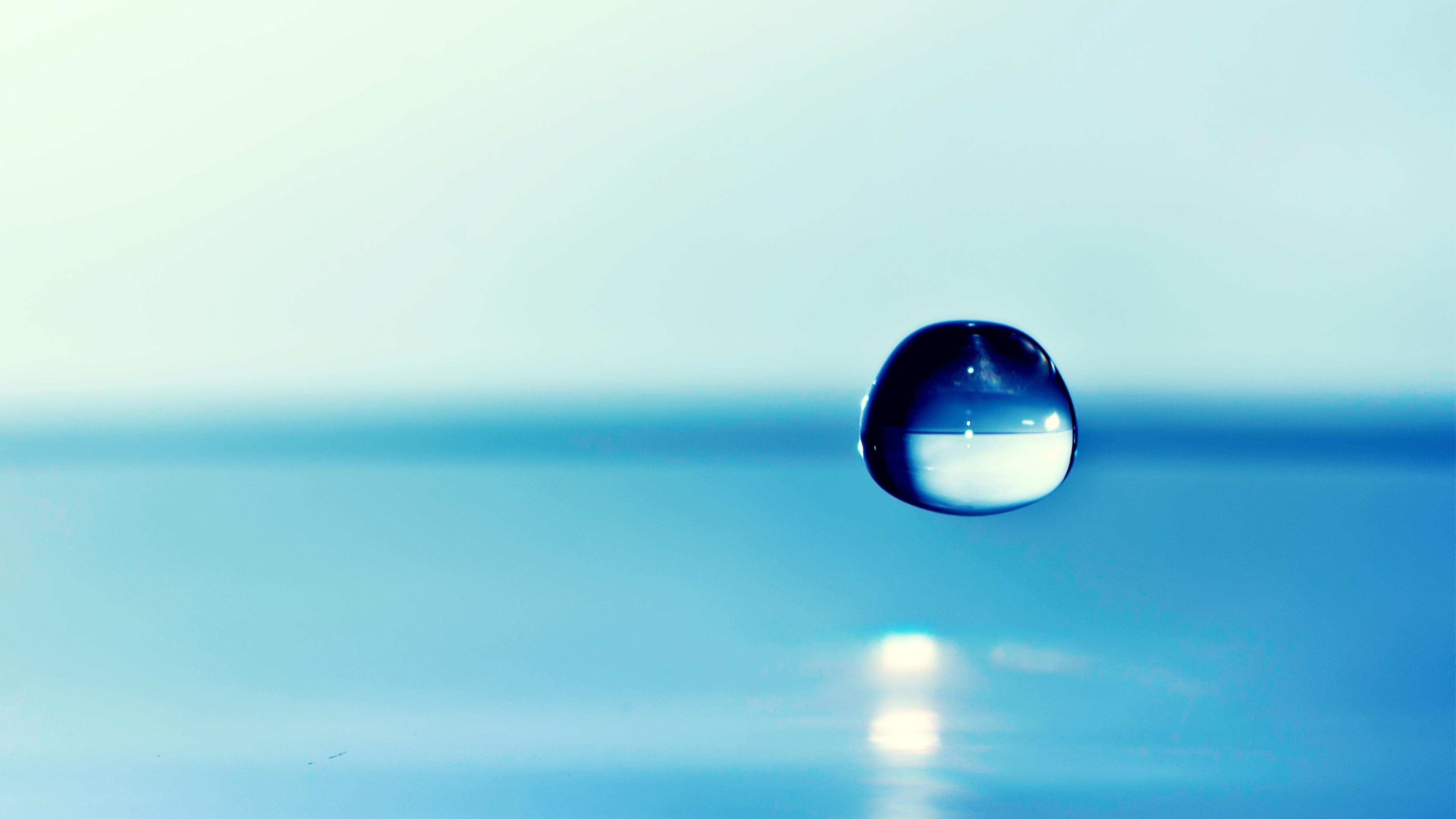 water drop focus wallpaper 44886 3840x2160 px