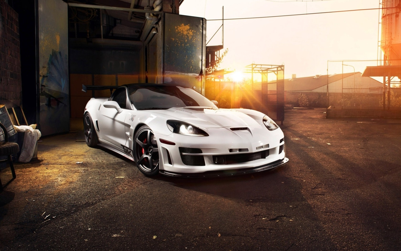 white corvette wallpaper 38321
