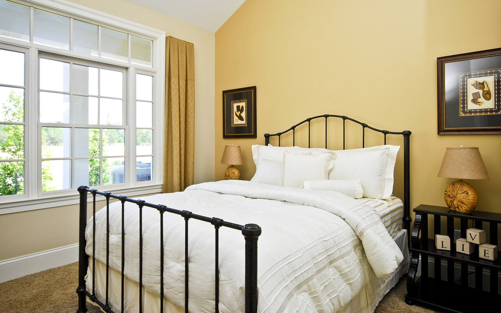 wonderful bed wallpaper 43757