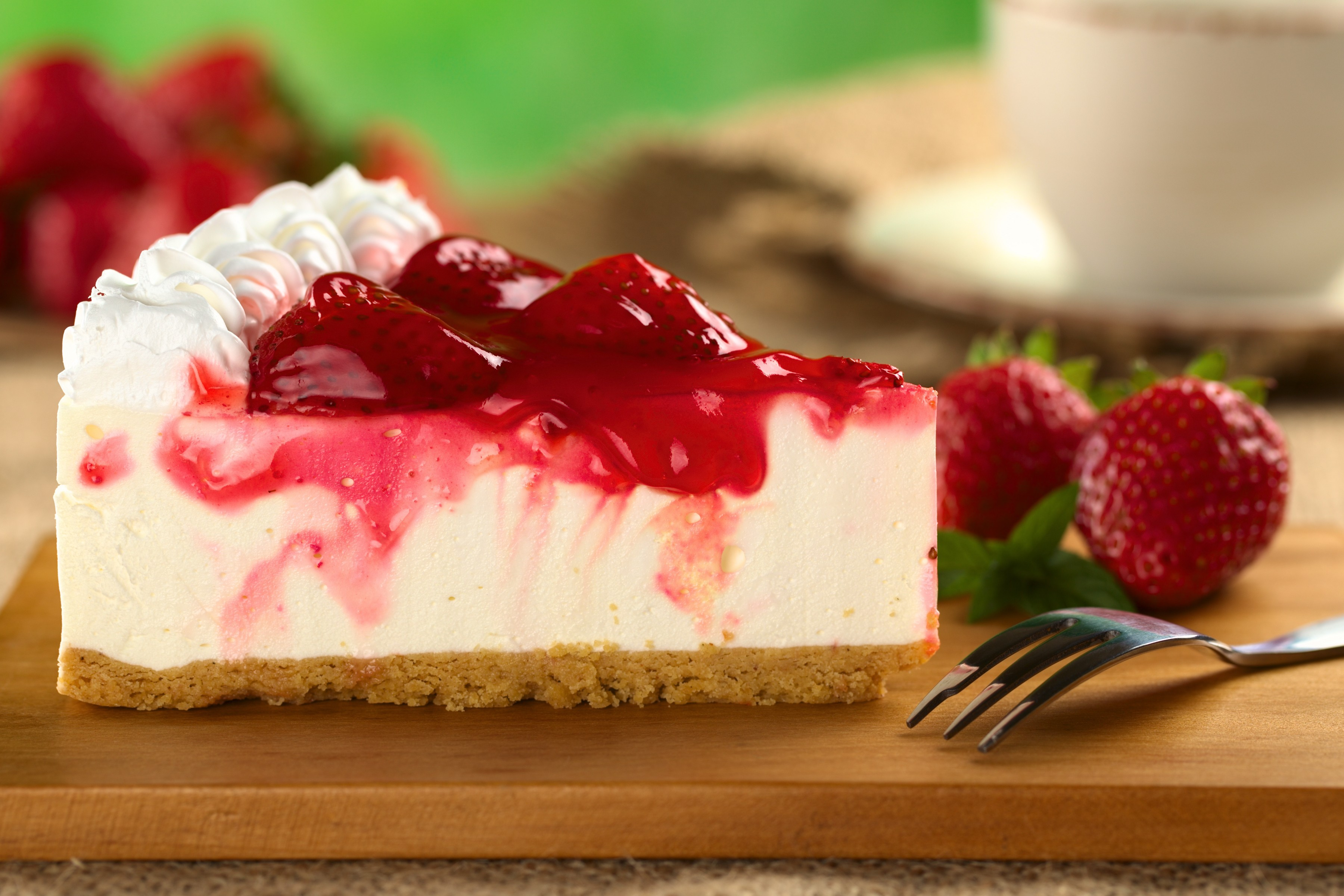 wonderful strawberry cheesecake wallpaper 43257