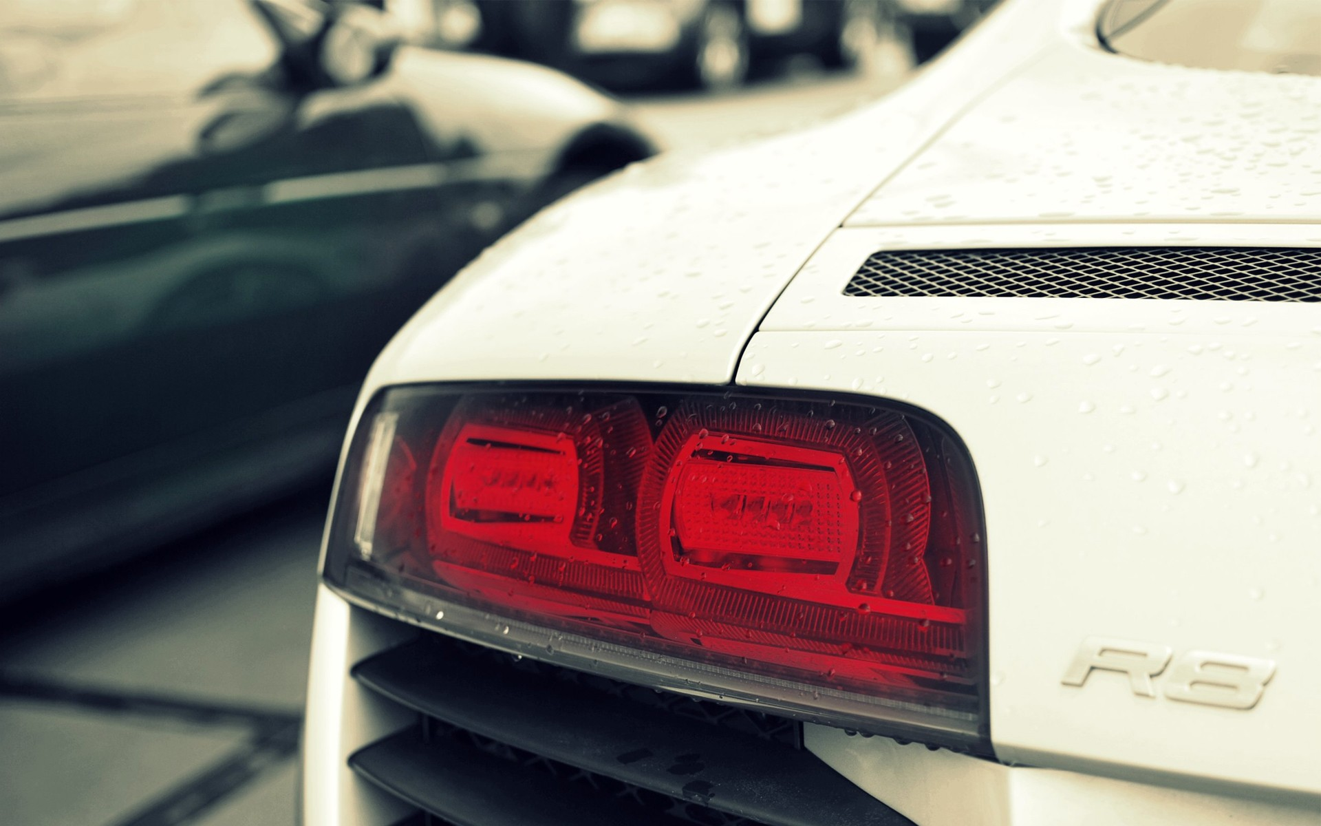 audi r8 car rear wallpaper 43793