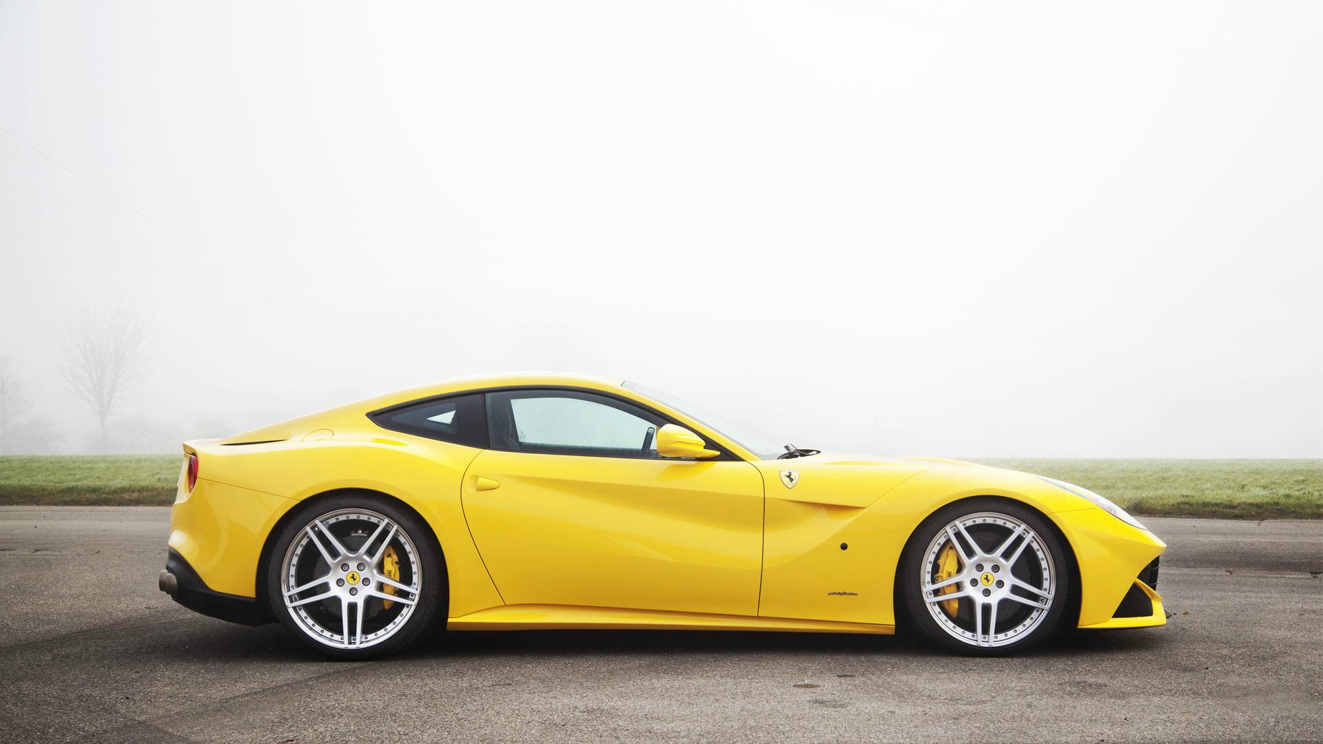 beautiful yellow ferrari wallpaper 36207