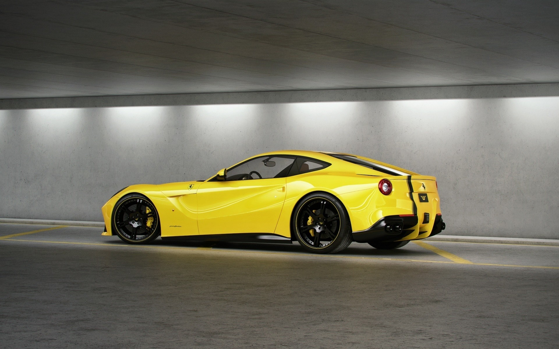 fantastic yellow ferrari wallpaper 36211