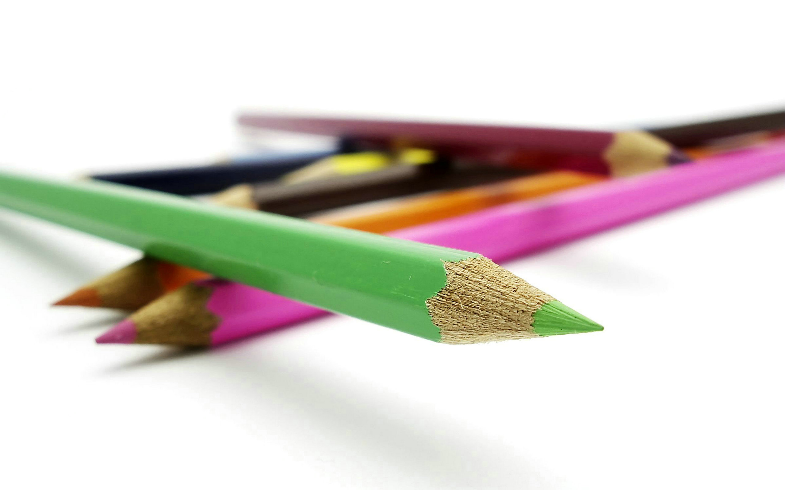 free colored pencils background 40945