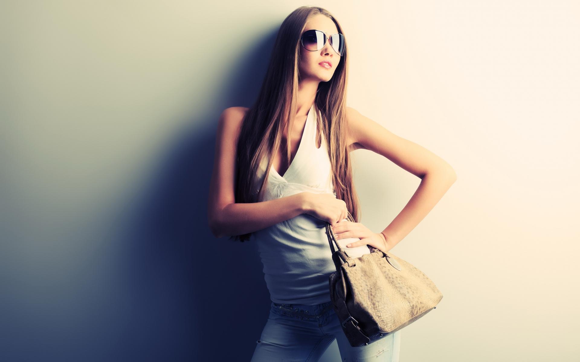 free girl glasses wallpaper 42778