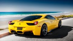 Awesome Yellow Ferrari Wallpaper 36213