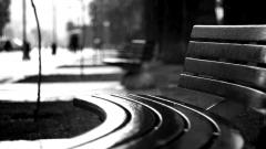 BW Bench Mood Wallpaper 43479