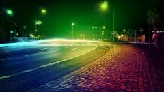 Colored City Lights Wallpaper 24318