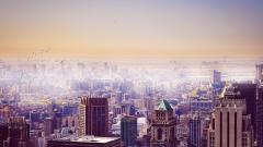 Hazy City Wallpaper 41017