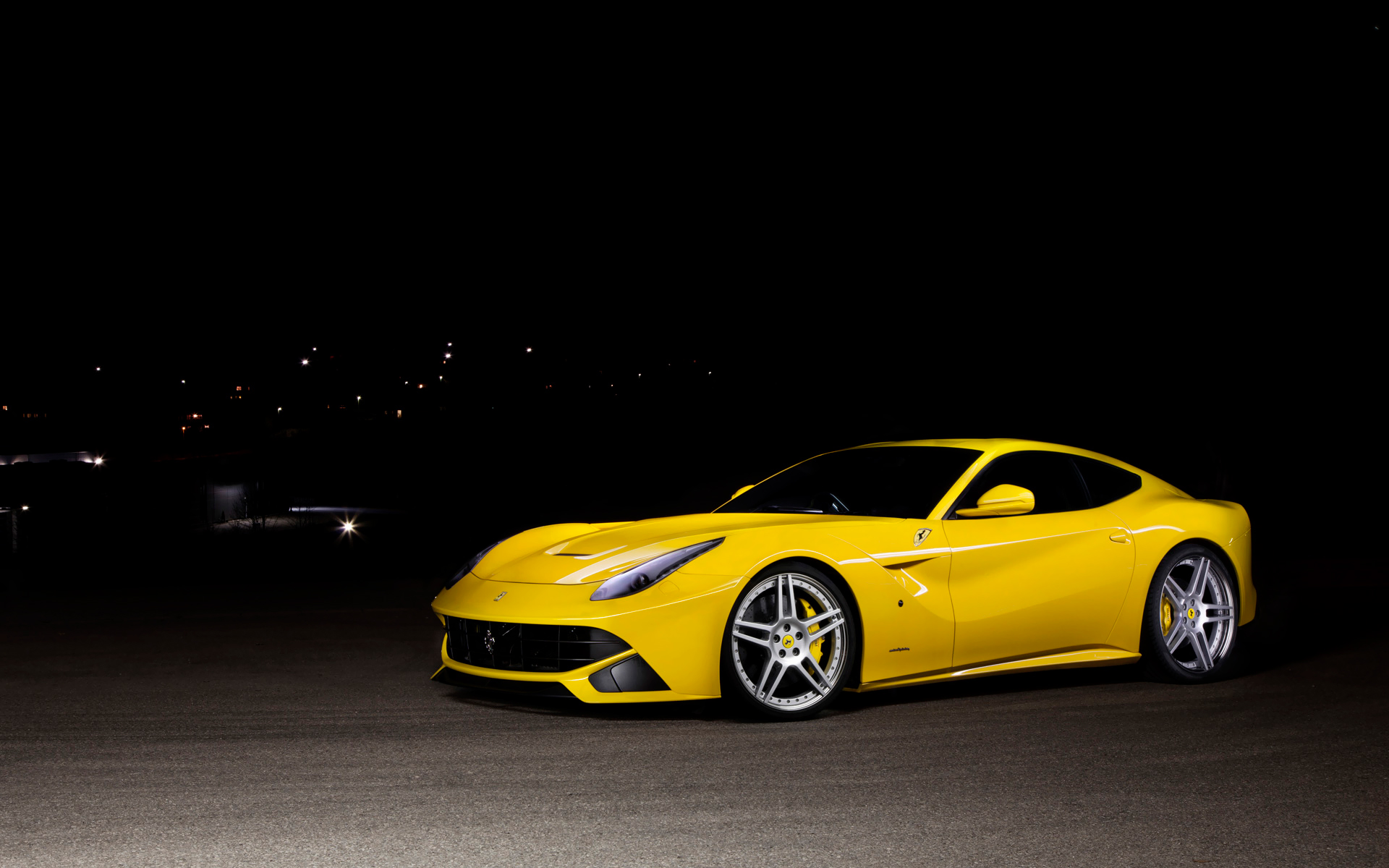 yellow ferrari wallpaper 36221