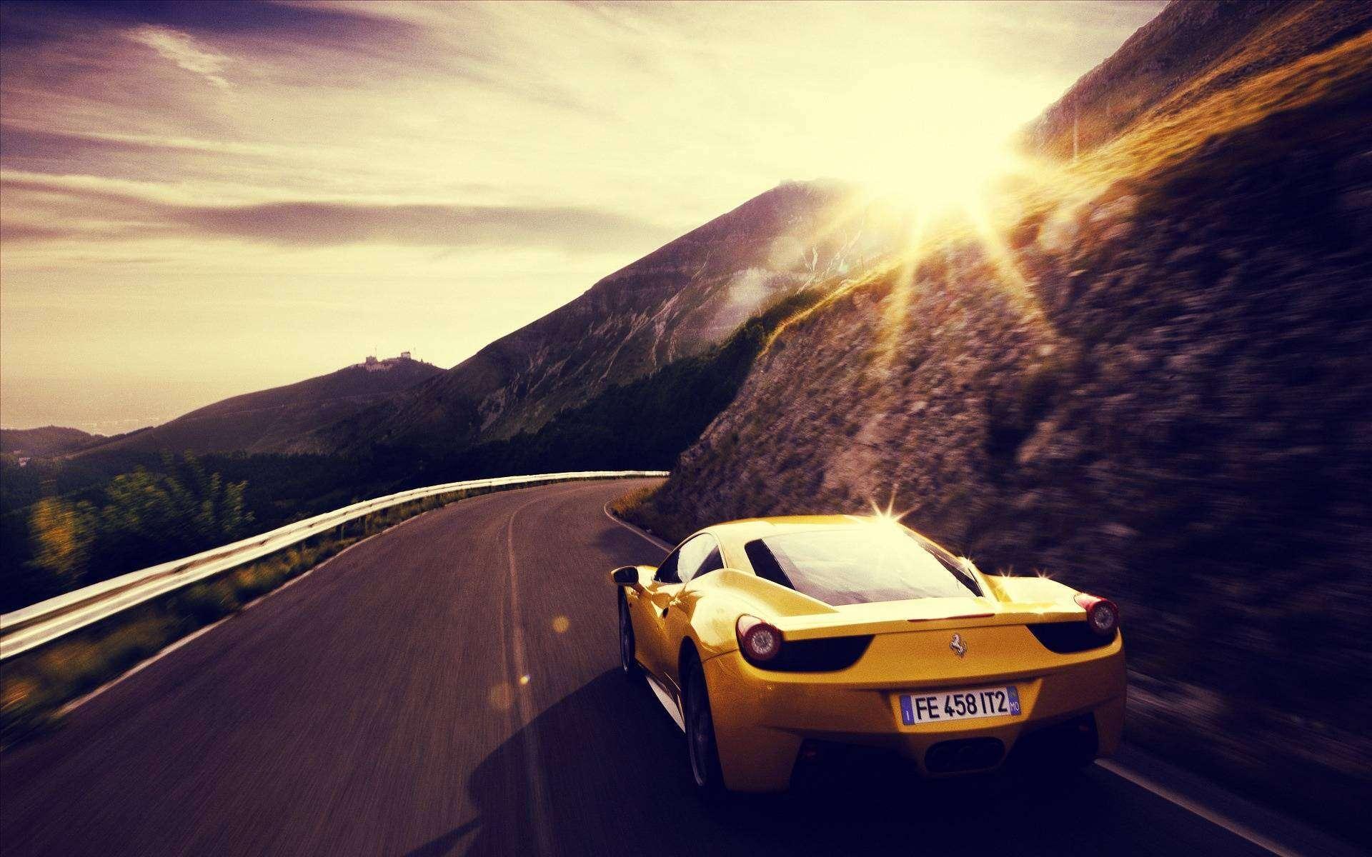 Yellow Ferrari Wallpaper 36223 1920x1200px