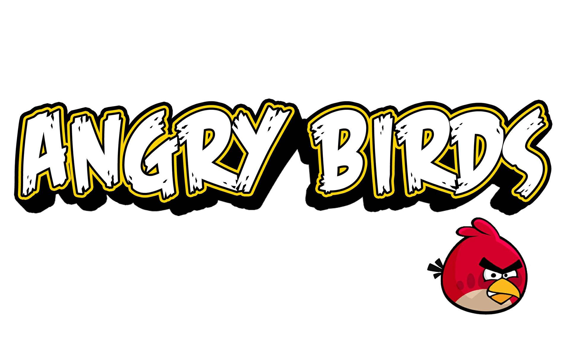 angry birds logo wallpaper 41413