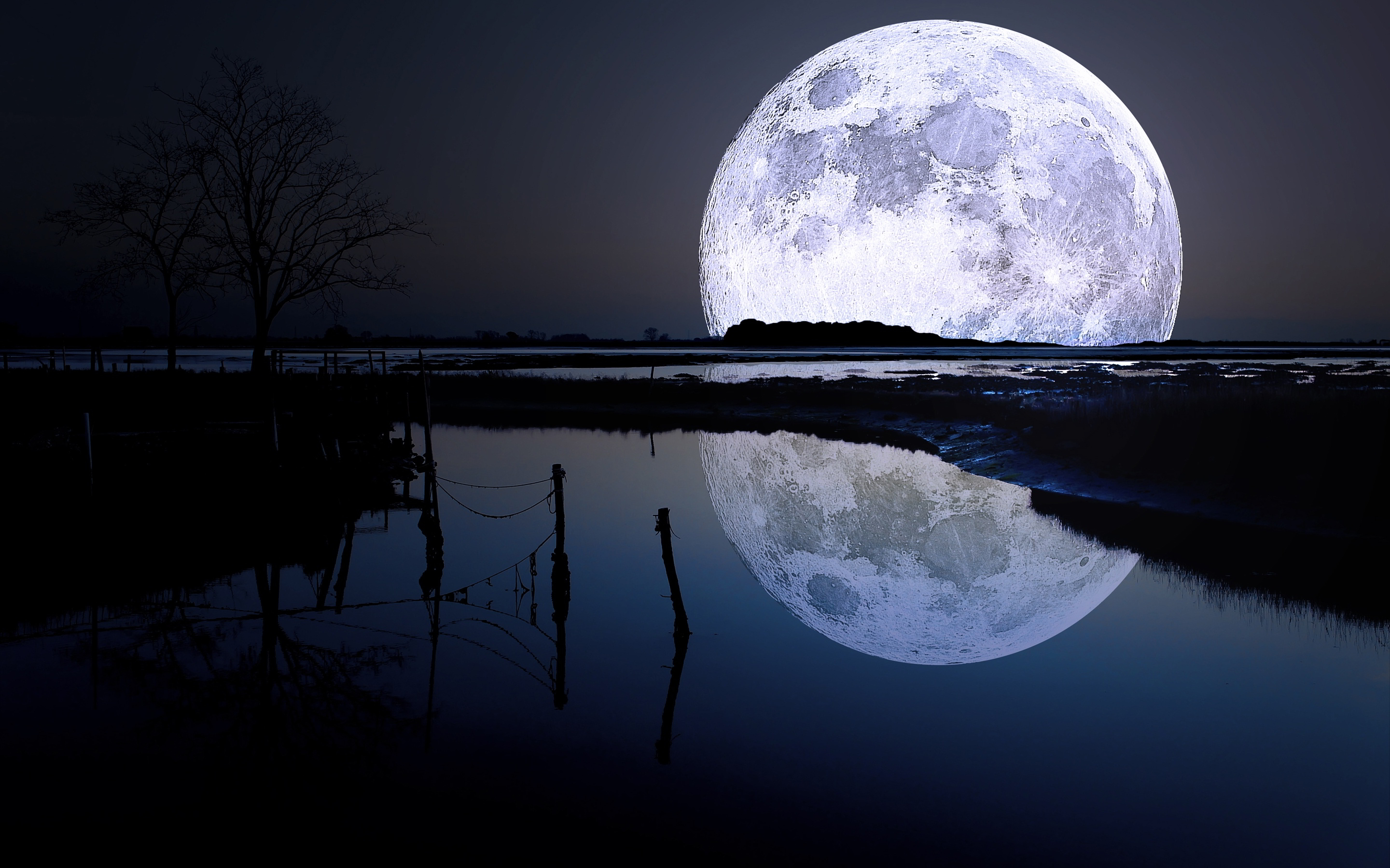 cool full moon wallpaper 40065