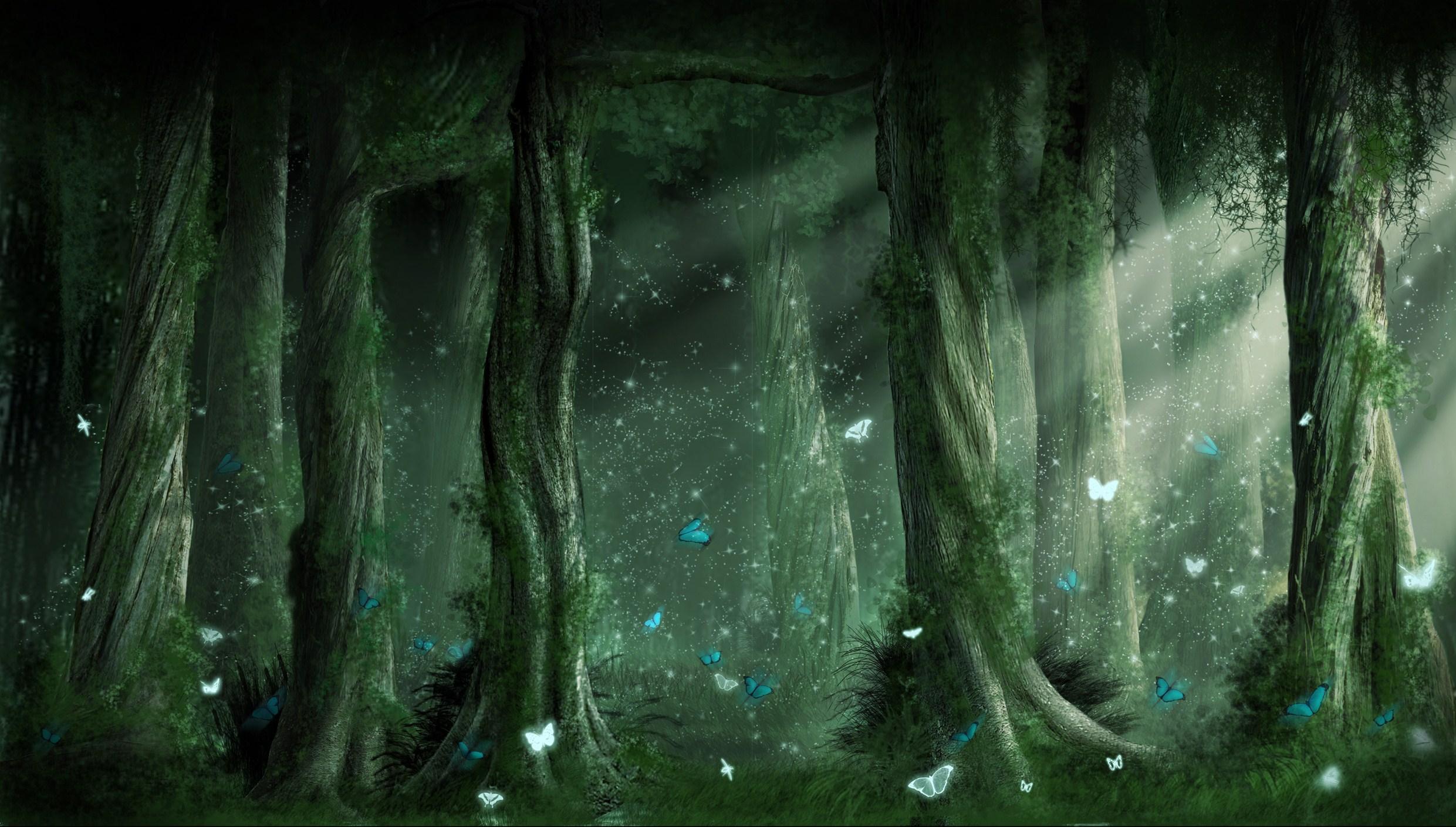 Forest Fantasy Background 18575 2481x1409 Px