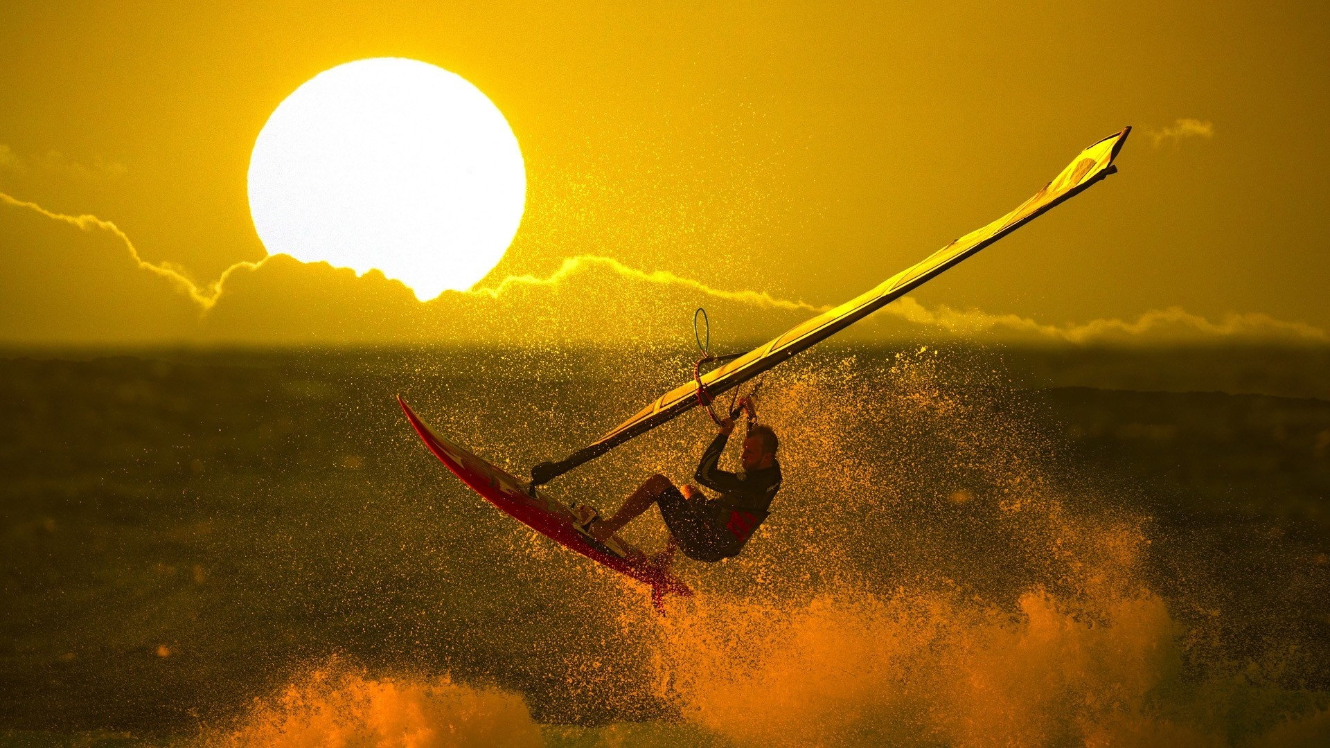 stunning windsurfing wallpaper 44402