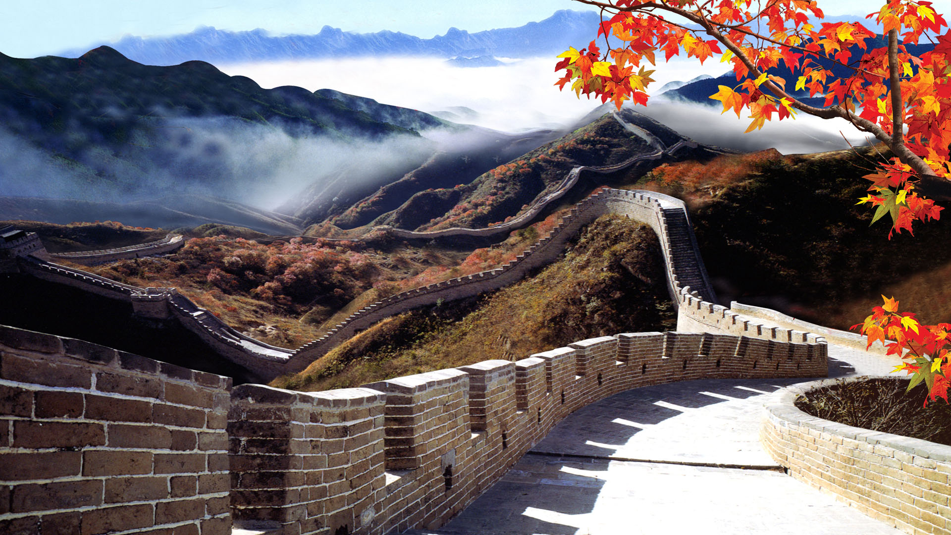 great wall of china wallpaper 36530 1920x1080px