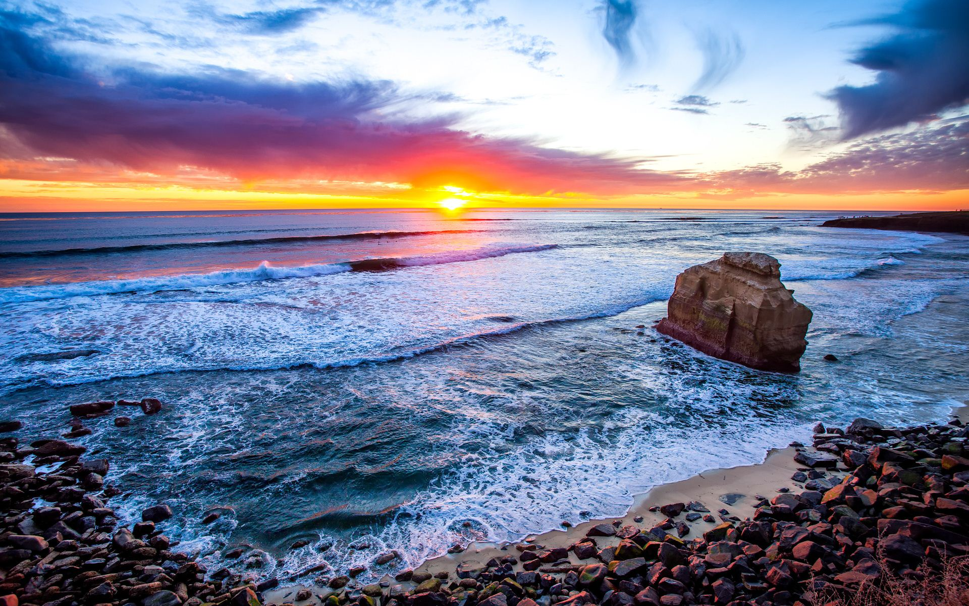 Stunning san diego wallpaper 24119 1920x1200 px for Beautiful beaches in la