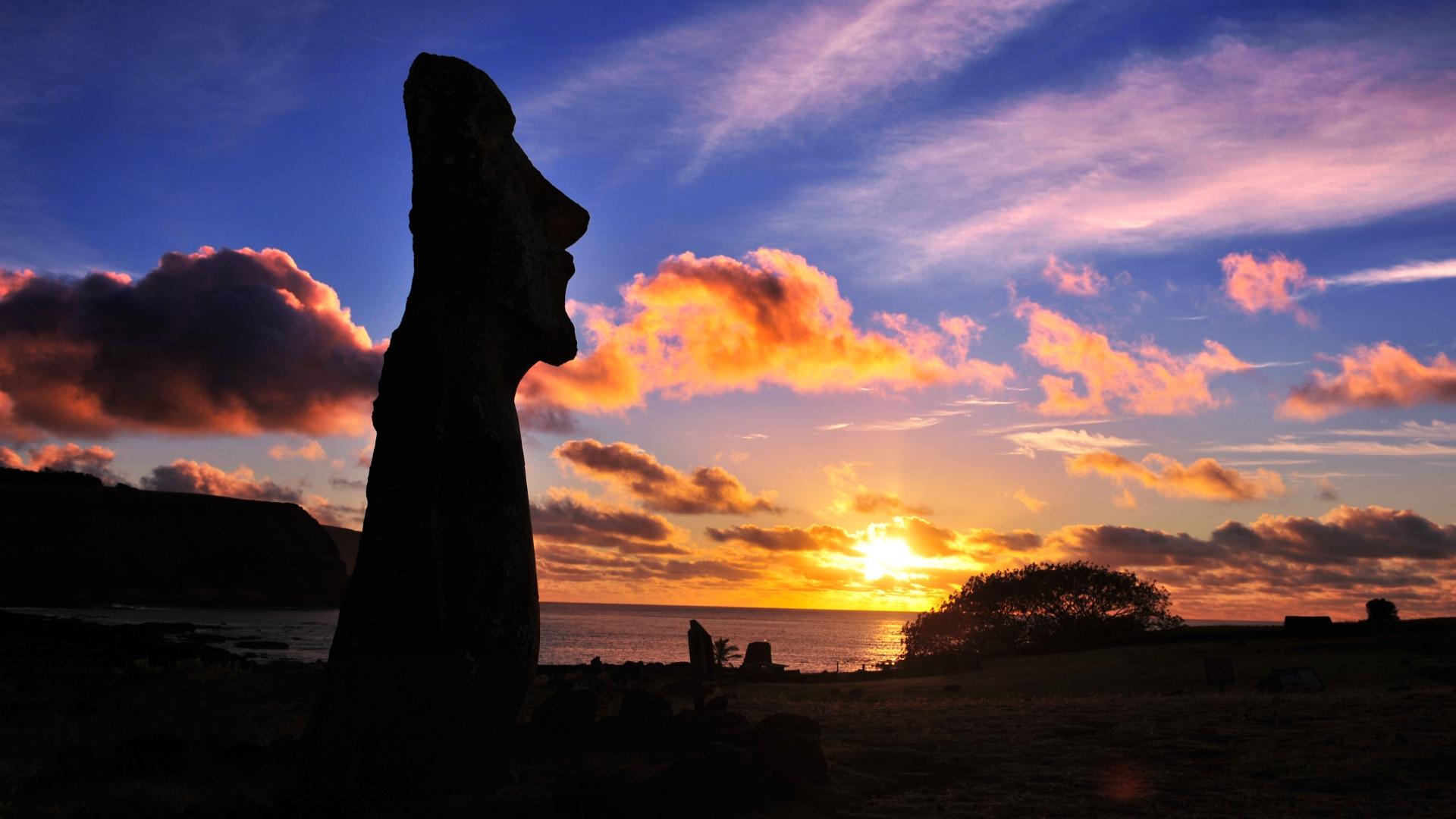 sunset silhouette wallpaper 38076