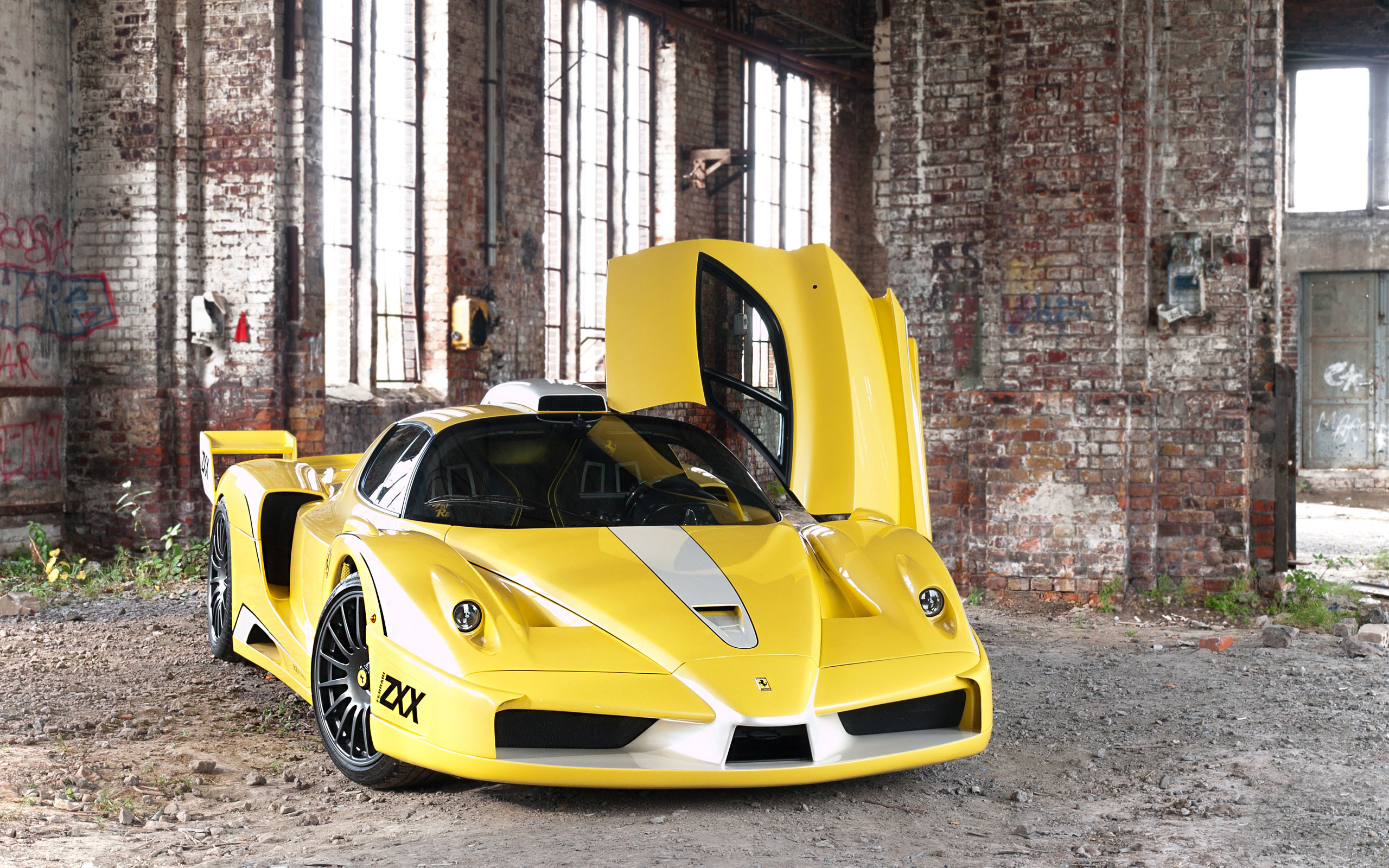 awesome yellow ferrari enzo wallpaper 44978