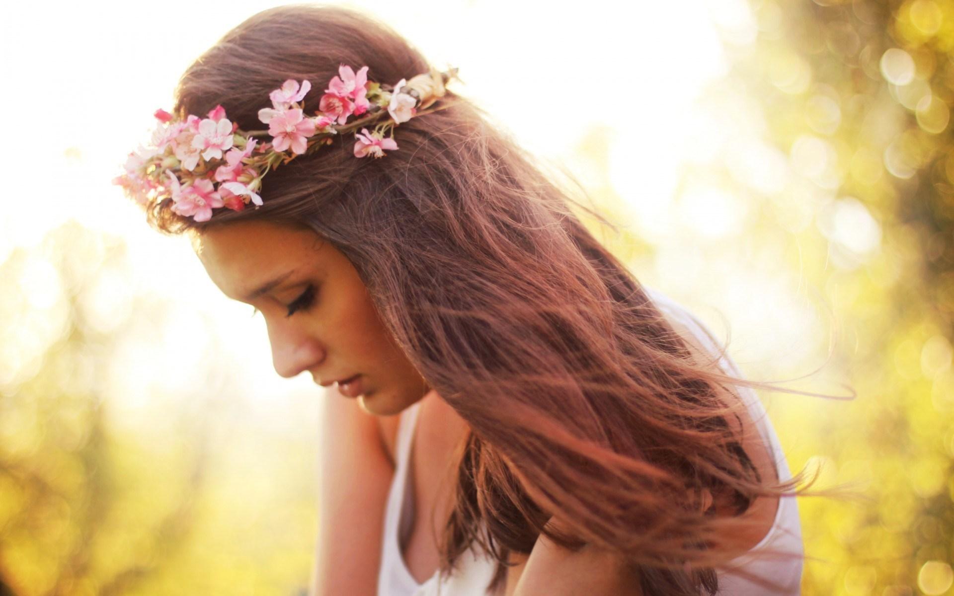 beautiful girl hair mood wallpaper 43692
